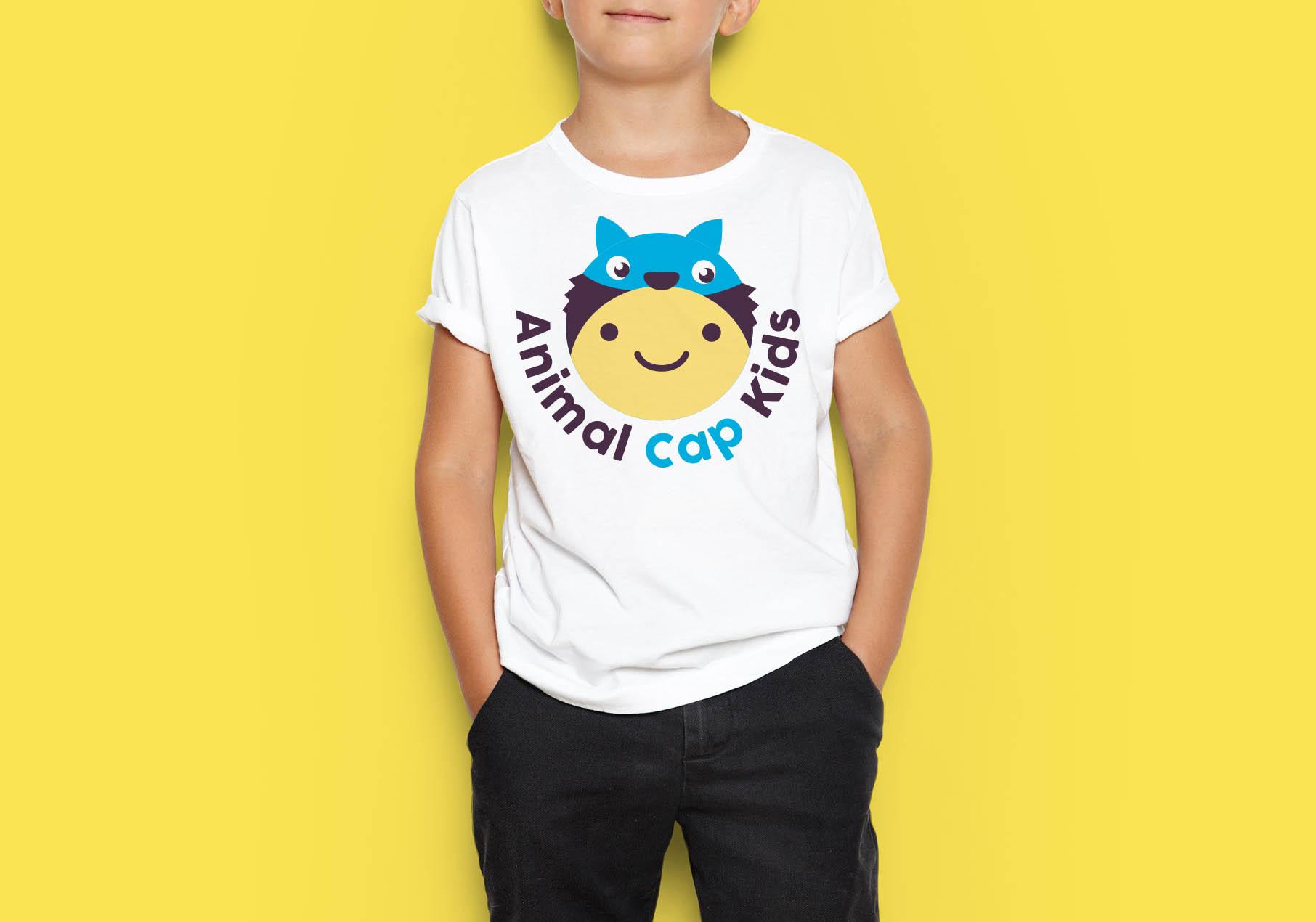 animal cap kids logo design